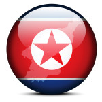 Vector Image - Map on flag button of Democratic People's Republic of Korea, North Korea