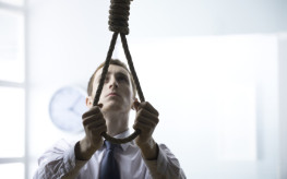 A desperate Young businessman, to commit suicide